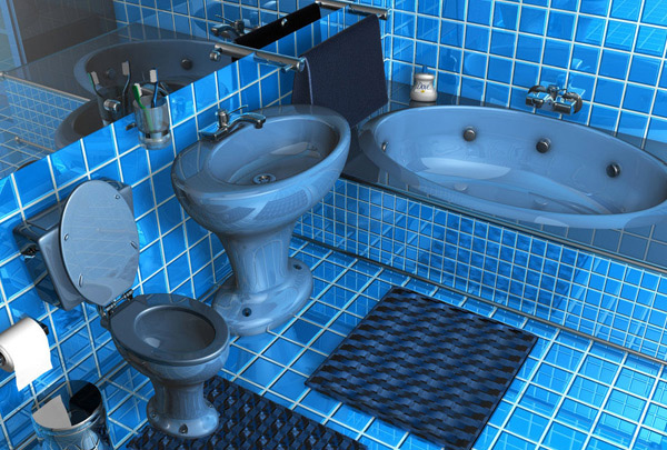 48 Cool And Charming Blue Bathroom Designs Home Design Lover Inspiration Blue Bathroom Designs