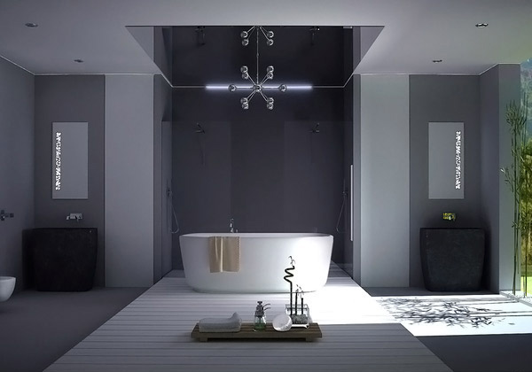 a look at 15 sophisticated gray bathroom designs