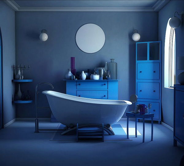 charming blue bathroom color schemes | 18 Cool and Charming Blue Bathroom Designs | Home Design Lover