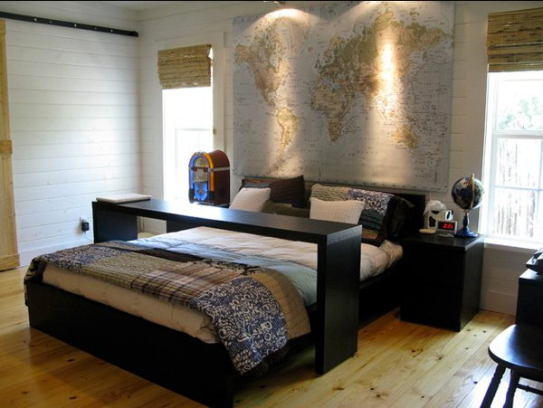 contemporary bachelor Bedrooms