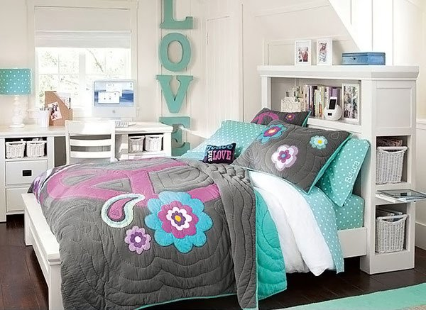 20 stylish teenage girls bedroom ideas home design lover for Girl room ideas pinterest