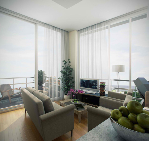 High Quality Condo Living Room