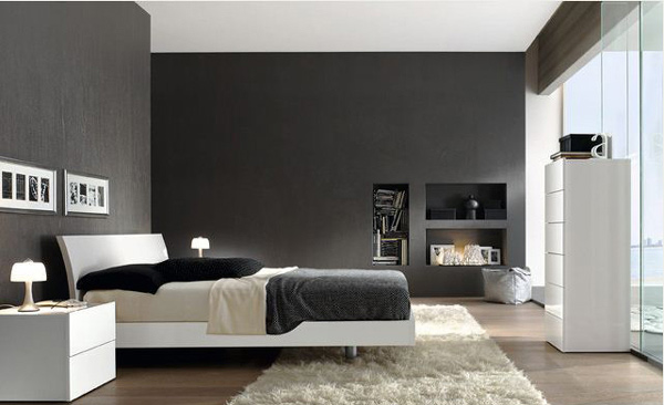 16 classy black and white bedroom designs home design lover for Minimalist black and white bedroom