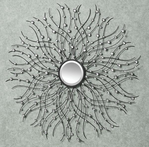 Jewel Drops Mirrored Metal Wall Sculpture