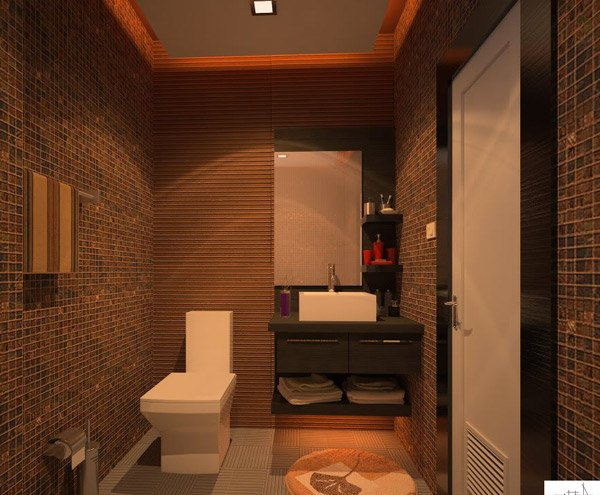 Merveilleux Brown Bathroom Design