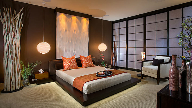 15 charming bedrooms with asian influence home design lover for Japanese bedroom designs pictures
