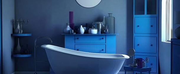 a cool blue bathroom designs