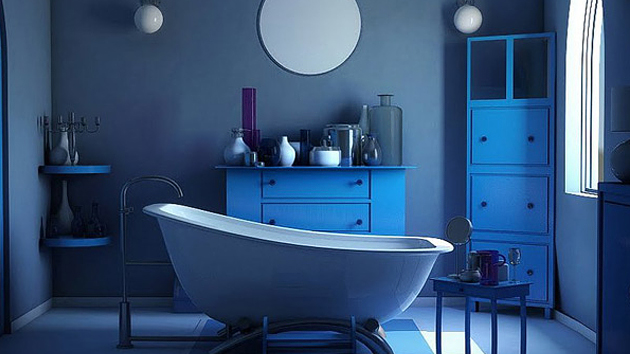 a cool blue bathroom designs