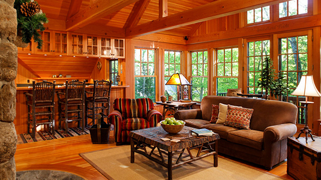 15 warm and cozy country inspired living room design ideas for Country style family room ideas