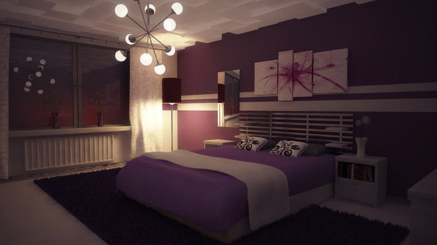 15 ravishing purple bedroom designs home design lover Royal purple master bedroom