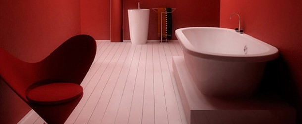 red hot bathroom designs