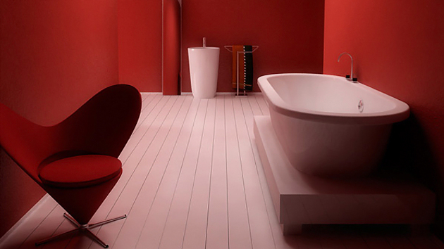 red hot bathroom designs