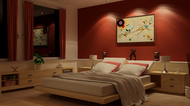 15 invigorating red bedroom designs home design lover Red bedroom wall painting ideas
