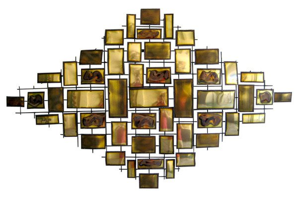 15 modern and contemporary abstract metal wall art for Brass wall art