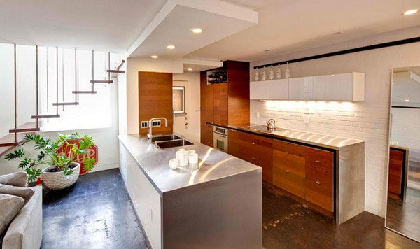 15 simple and minimalist kitchen space designs home for Simple townhouse design
