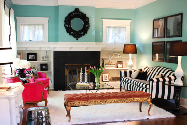 15 Living Rooms with Pretty Print Themes | Home Design Lover