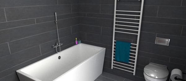 grey bath design