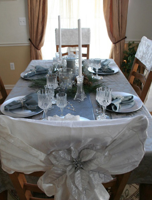 RMS Silver Holiday Table