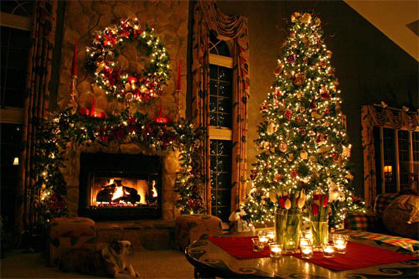 Christmas Tree Living Room 15 christmas decorated living rooms | home design lover