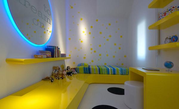 Yellow Blue Bedroom