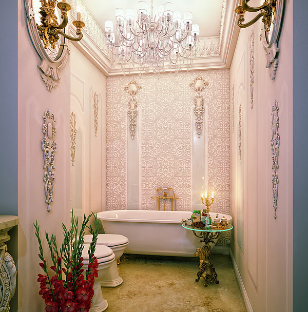 chandeliers bathroom