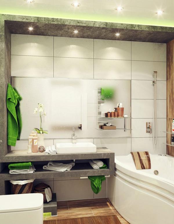 Green Small Bathroom