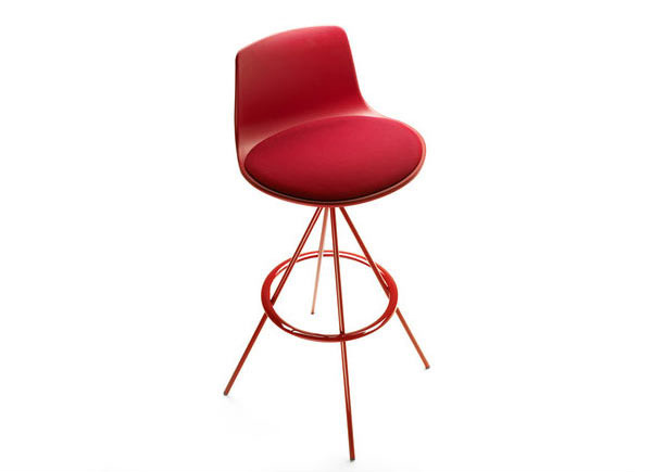 Red barstools