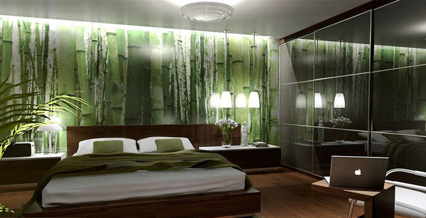 15 refreshing green bedroom designs home design lover. Black Bedroom Furniture Sets. Home Design Ideas
