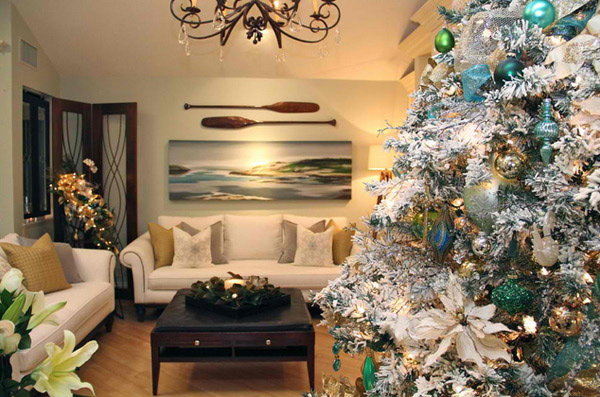 christmas decorated living rooms - Decoration For Living Room