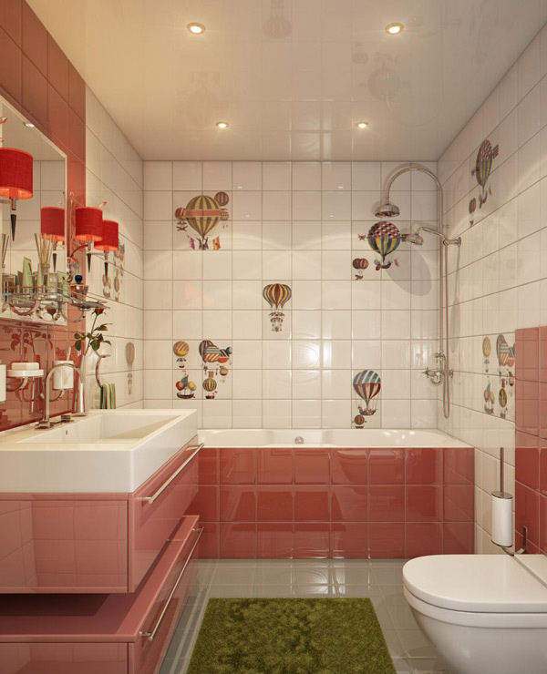 Pink Bathroom Designs
