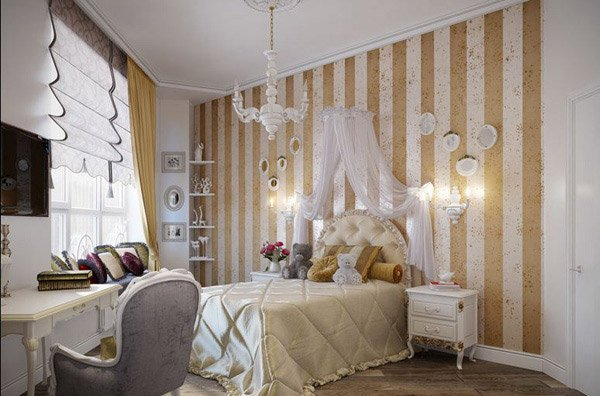 Feel the grandeur of 20 classic bedroom designs home for Bedroom stripe paint ideas