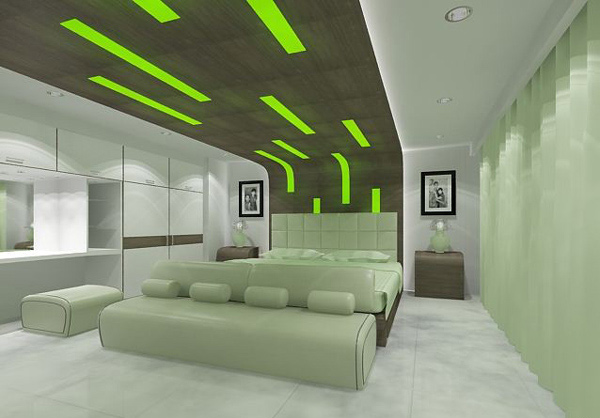Attractive The Green Style Bedroom