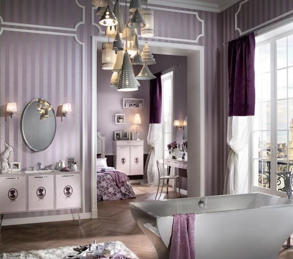 lavender palette bathroom