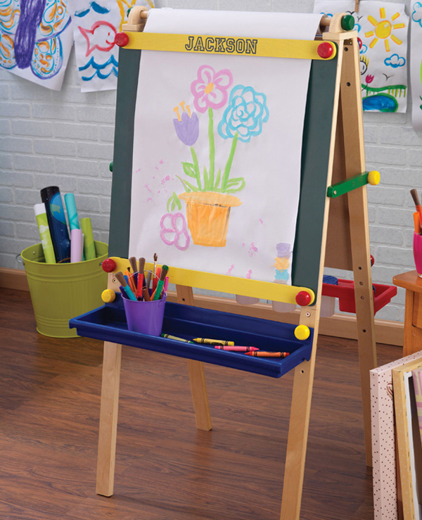 simple wooden easel