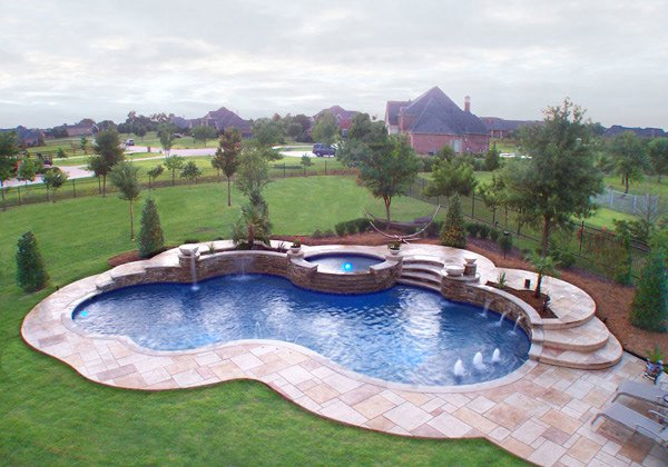 Delightful Swimming Pool. This Free Form ...