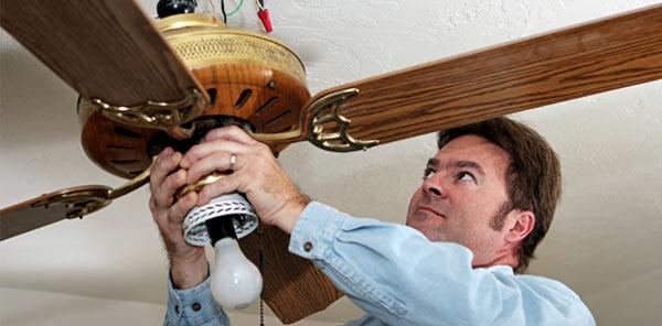 Adjust ceiling fans