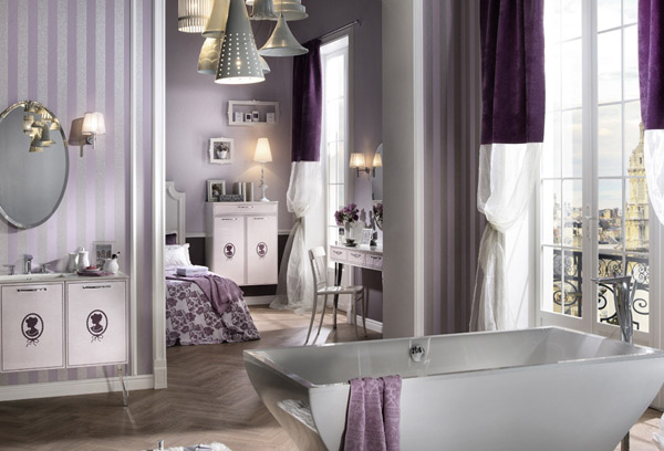 Lilac Color Bathroom