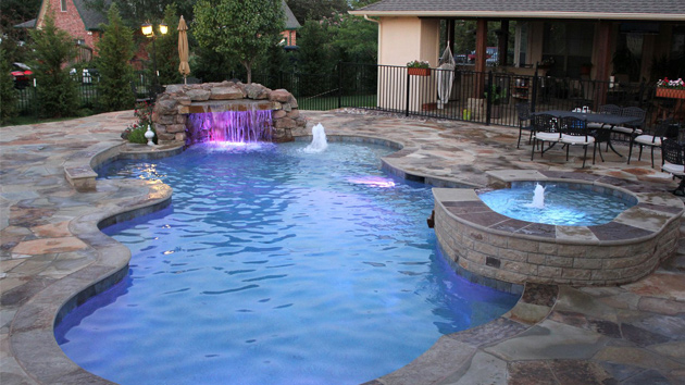 Drawing Swimming Pools : Remarkable free form pool designs home design lover