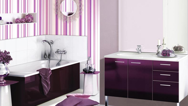 15 majestically pleasing purple and lavender bathroom for Bathroom ideas violet