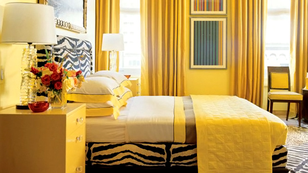 15 zesty yellow bedroom designs home design lover for Interior design ideas yellow living room