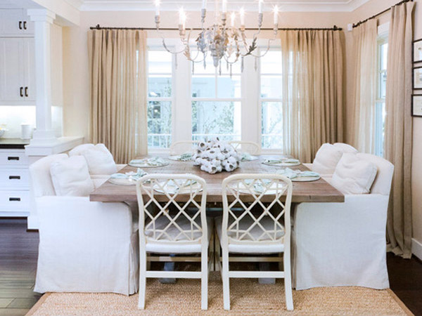 15 pretty and charming shabby chic dining rooms home Pretty dining rooms