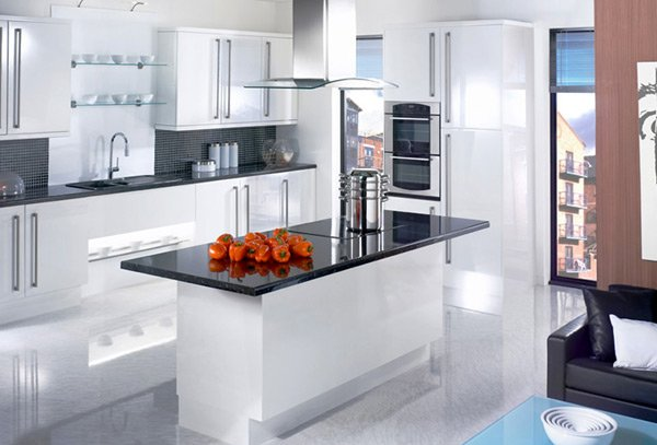 17 White And Simple High Gloss Kitchen Designs Home Design
