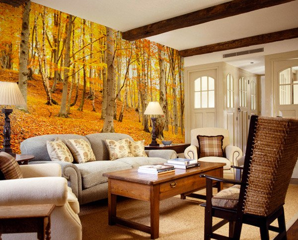 15 Living Rooms With Interesting Mural Wallpapers Home Design Lover