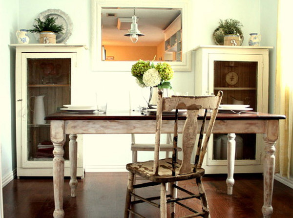 Shabby Chic Breakfast Table: 15 Pretty And Charming Shabby Chic Dining Rooms