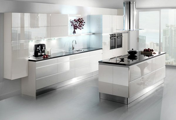 white shiny kitchen cabinets 17 white and simple high gloss kitchen designs home 29137