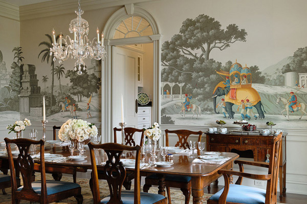 20 conventional dining rooms with wallpaper murals home for 3d wallpaper for dining room