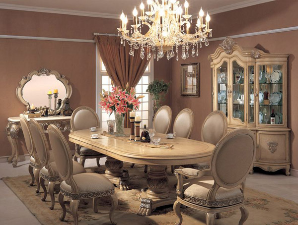 20 traditional dining room designs home design lover for Table decor international inc