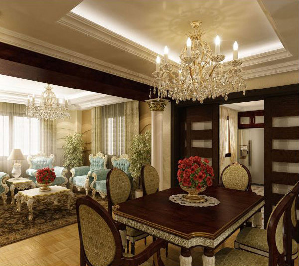 classic dining and living area - Traditional Dining Room