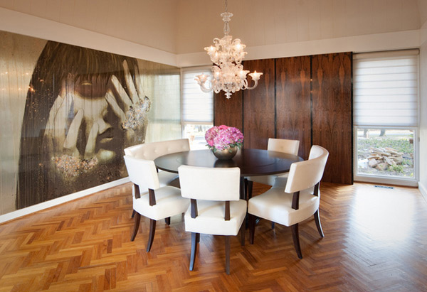 20 Conventional Dining Rooms with Wallpaper Murals Home Design Lover