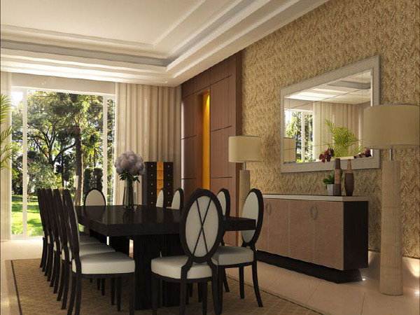 20 traditional dining room designs home design lover for Latest dining hall designs